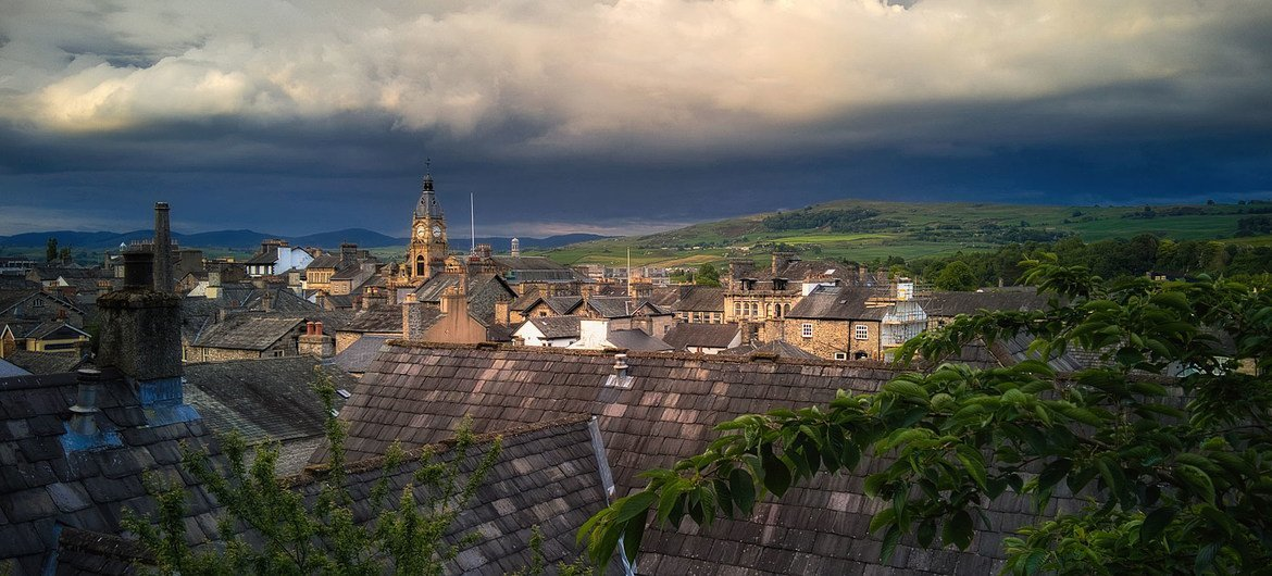 The town of Kendal in England, UK.