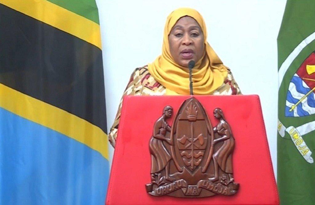 Rais Samia Suluhu Hassan wa Tanzania akihutubia Baraza Kuu la UN