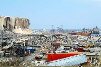 Beirut Port after an explosion on 4 August 2020.
