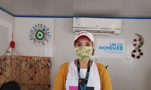 Hadeel Al-Zoubi is a Senior Camp Assistant  for UN Women working in Za'atari and Azraq camps for displaced people in Jordan.
