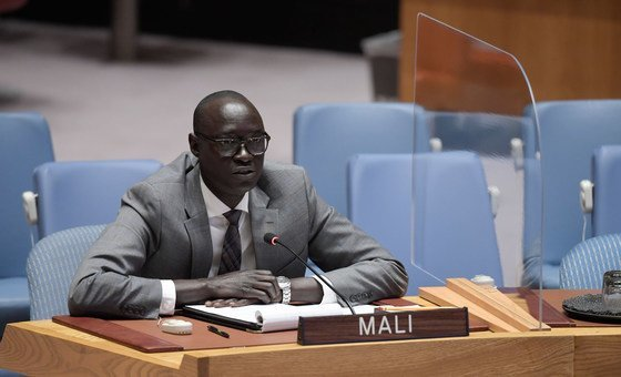 Ambassador Issa Konfourou, Permanent Representative of Mali to the United Nations, addresses the UN Security Council on the situation in his country.