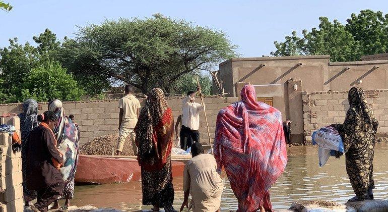 فيضانات في قرية وادي مختار بالسودان (2020)