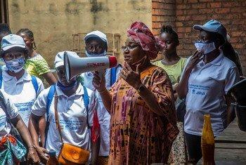 Lina Ekomo, médiatrice et militante pour l'égalité des sexes en République centrafricaine, a pris la parole lors de la table ronde virtuelle sur les femmes, la paix et la sécurité.