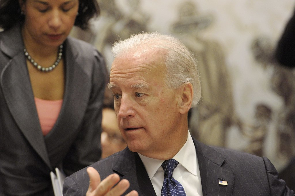 Le Président des Etats-Unis, Joe Biden, présidant une réunion du Conseil de sécurité sur l'Iraq en décembre 2010 alors qu'il occupait les fonctions de Vice-président de son pays