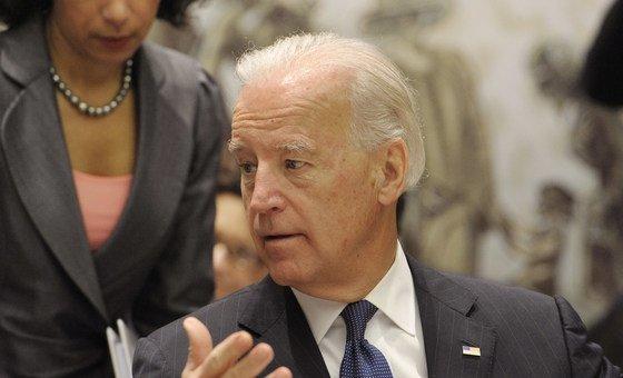 Presidente Biden no Conselho de Segurança, em Nova Iorque, em 2010