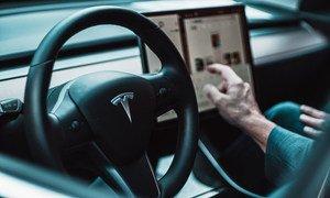 Car companies like Tesla are increasingly using AI to control vehicles.