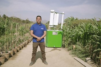 Max Hidalgo has developed technology to extract water from the air.