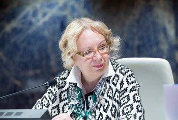 La Directrice générale de l'Office des Nations Unies à Genève, Tatiana Valovaya, au Palais des Nations