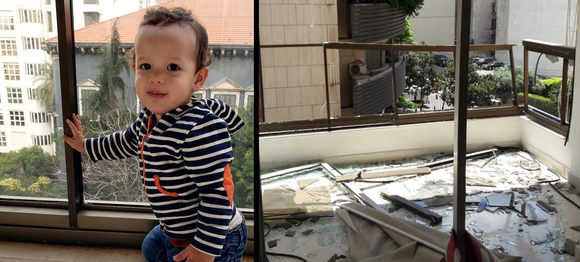 Isaac was two years old when he was killed in the explosion in Beirut.