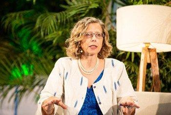 Inger Andersen, diretora executiva do Programa das Nações Unidas para o Meio Ambiente, Pnuma