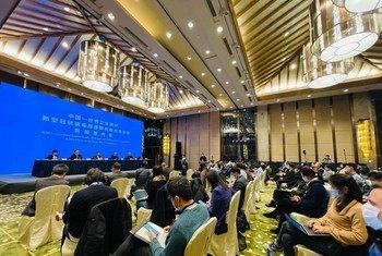 中国-世界卫生组织新型冠状病毒溯源研究联合专家组在武汉光谷希尔顿酒店举行新闻发布会