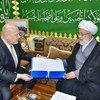 Karim Khan, Special Adviser and Head of UNITAD, reviews the