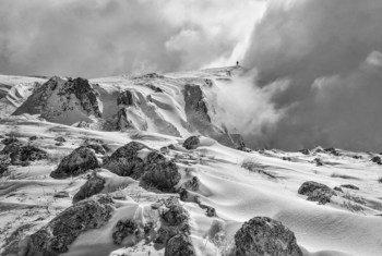 Clima extremo en las montañas de Bosnia.