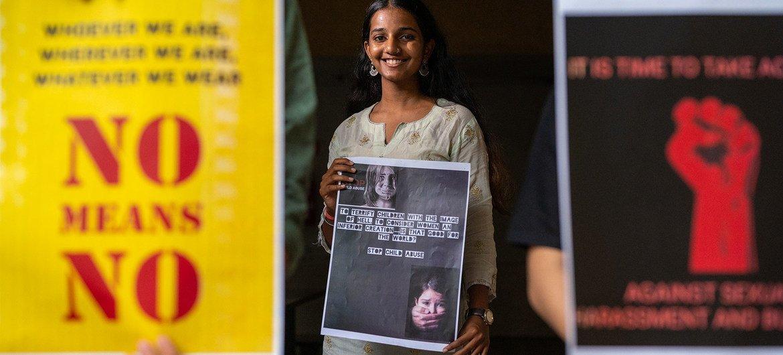 En Inde, les jeunes femmes expriment leurs sentiments à l'égard de la violence sexiste.