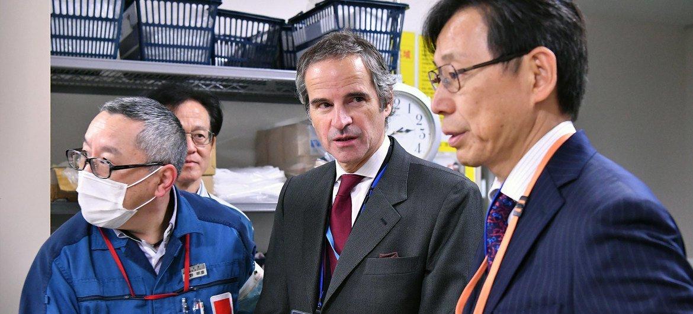 2020年2月26日,国际原子能机构总干事格罗西在对日本进行正式访问期间走访福岛核电站。