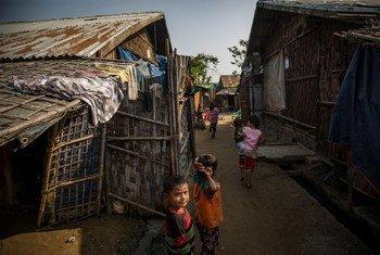 On 29 January 2019 in Mynamar, children play at Thet Kel Pyin Muslim Internally Displaced Persons (IDP) camp in Sittwe, the capital of Rakhine state.
