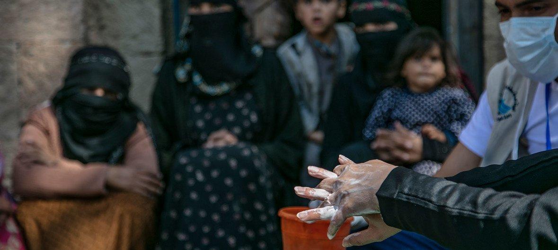اليونيسف تعمل على الترويج لغسل اليدين في اليمن