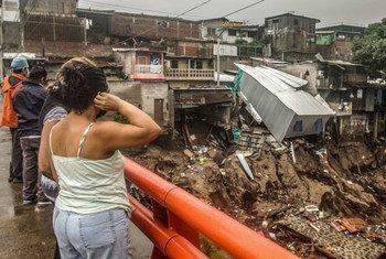 Daños causados por la Tormenta Tropical Amanda en El Salvador.