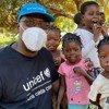 UNICEF Regional Director, Mohamed Malick Fall, in Cabo Delgado, Mozambique