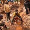 Children work at a mine in South Kivu in the Democratic Republic of the Congo.