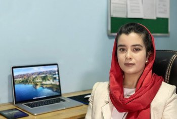 Madina Walizada, a young entrepreneur in Kabul, Afghanistan.