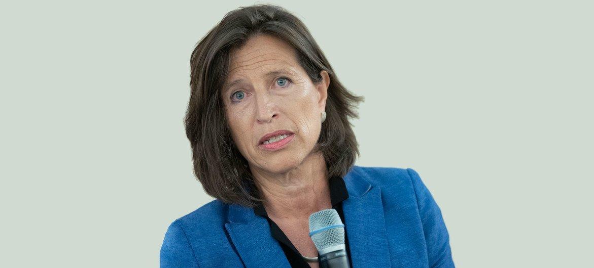 A subsecretária-geral do Departamento de Comunicação Global da ONU, Melissa Fleming, falou no evento sobre a importância e o futuro do português
