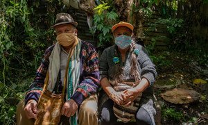 Indígenas en Colombia en medio de la pandemia de COVID-19.