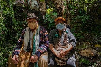 Представители коренного народа в Колумбии.