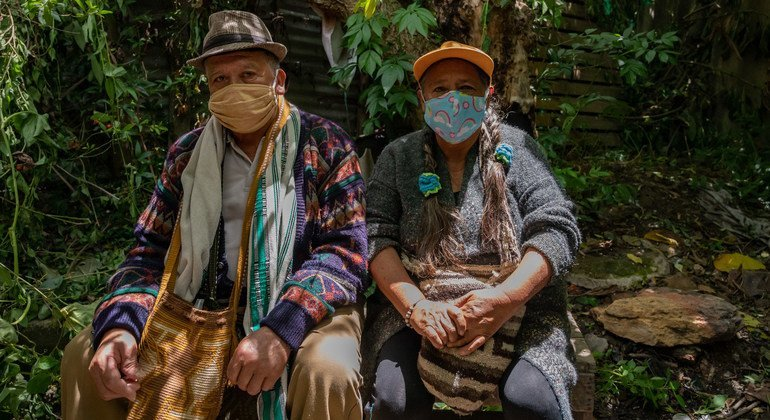 The Bogotá Ministry of Health have sent a Muisca nurse to Suba, in the north of Bogotá, Colombia, to check on the local indigenous population..