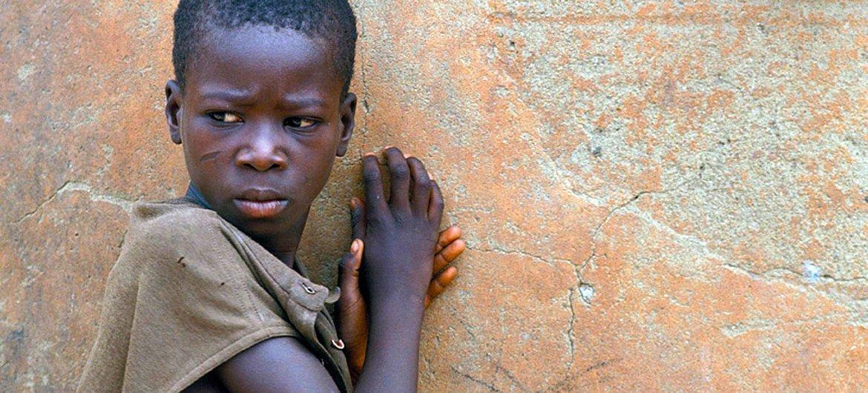 فتى صغير من غانا.