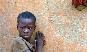A young boy in Ghana.