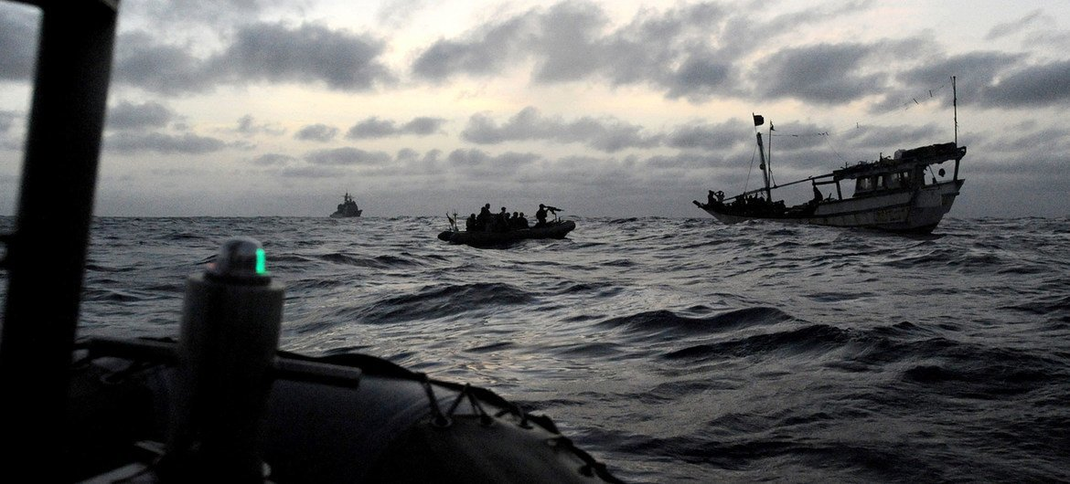Counter-piracy operations are conducted in the Gulf of Aden and the east coast of Somalia. (file)