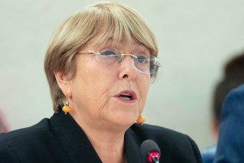 Michelle Bachelet, Haut-Commissaire des Nations Unies aux droits de l'homme, prend la parole lors de la 42ème session du Conseil des droits de l'homme. (Septembre 2019)