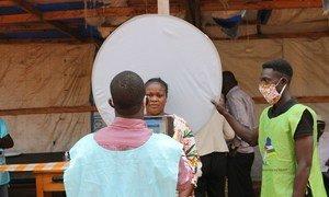 Voter registration in Bangui, Central African Republic.