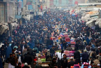 A typical day at the popular Mandawi market in Kabul, Afghanistan.