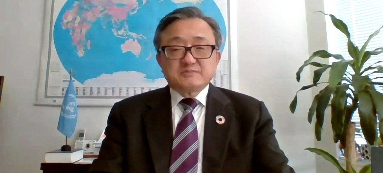 联合国负责经济和社会事务的副秘书长刘振民出席第15届互联网治理论坛线上记者会。