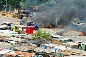 Electoral violence in Côte d'Ivoire's capital Abidjan in 2011.