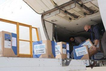 وصول شحنة من المساعدات الطبية إلى دمشق/سوريا
