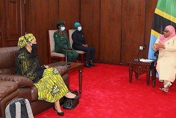 Naibu Katibu Mkuu Amina J. Mohammed amefanya ziara nchini Tanzania na amefanya mazungumzo na Rais wa nchi hiyo Samia Suluhu Hassan, katika Ikulu ya Chamwino, Mkoani Dodoma.