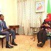 Rais Samia Suluhu Hassan akihojiwa na Anold Kayanda wa UN News Kiswahili, jijini New York Marekani baada ya UNGA76. (23 Septemba 2021)