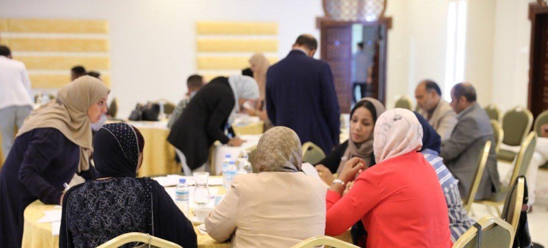 أرشيف: إحدى الفعاليات التي نظمتها بعثة الأمم المتحدة للدعم في ليبيا. من أولويات البعثة دعم وتمكين النساء الليبيات.