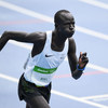 South Sudanese refugee, Yiech Pur Biel, runs the 800-metres for the Refugee Olympic Team in Rio. (August 2016)