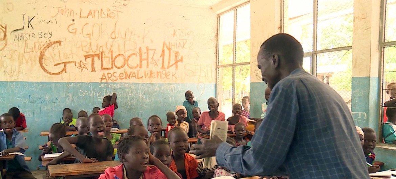 Koat Reath est un jeune réfugié sud-soudanais en Ethiopie et aussi un enseignant qui pense que l'éducation est la clé du futur de son pays (photo d'archives).