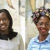 United Nations University-MERIT PhD fellows Racky Balde and Tatenda Zinyemba.