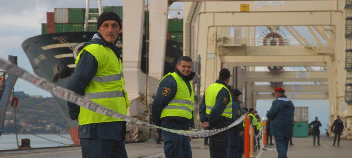 In Koper, Slovenia, IAEA agents coordinate a nuclear fuel shipment from Serbia.