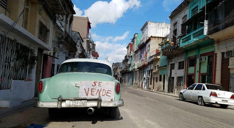 (من الأرشيف) أحد شوارع العاصمة هافانا، كوبا.