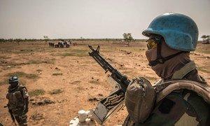 UN peacekeepers patrol the Mopti region in central Mali.
