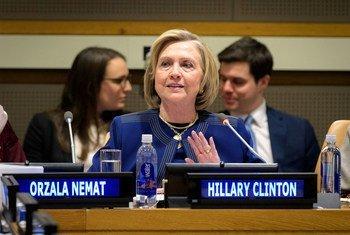 Бывшая Госсекретарь США Хилари Клинтон выступила в штаб-квартире ООН в Нью-Йорке на встрече Группы друзей Афганистана.