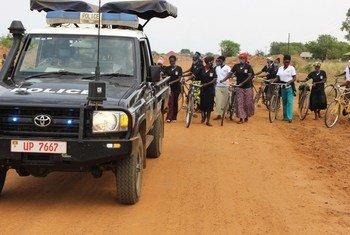 Maandamano ya wanawake huko Buliisa nchini Uganda wakati wa siku ya wanawake duniani 2021.