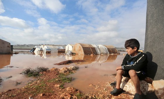 Январь 2021 года, лагерь для внутренних переселенцев в Сирии.
